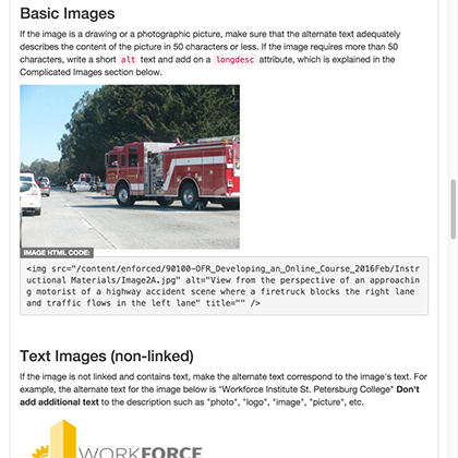 Making Images Accessible web guide document