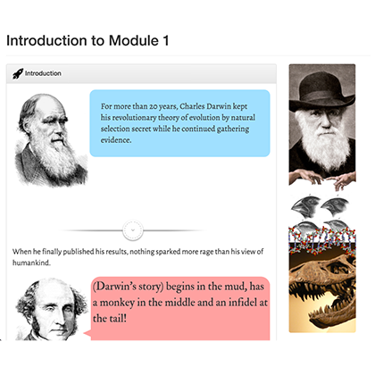 Module Introduction interactive webpage