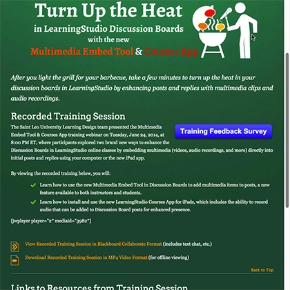 Turn up the heat in LearningStudio Discussion Boards webinar website