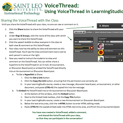 Using VoiceThread in LearningStudio guide